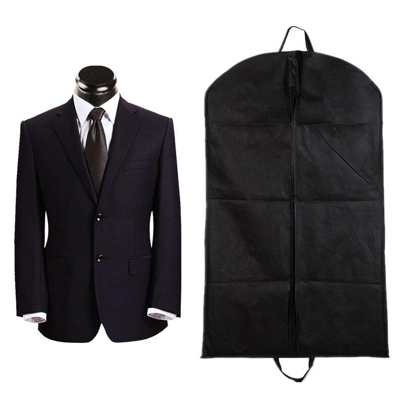 100x60 cm ropa colgante bolsa de tela no tejida negro colgador a prueba de polvo abrigo ropa cubierta de la ropa bolsas de almacenamiento 1 Uds