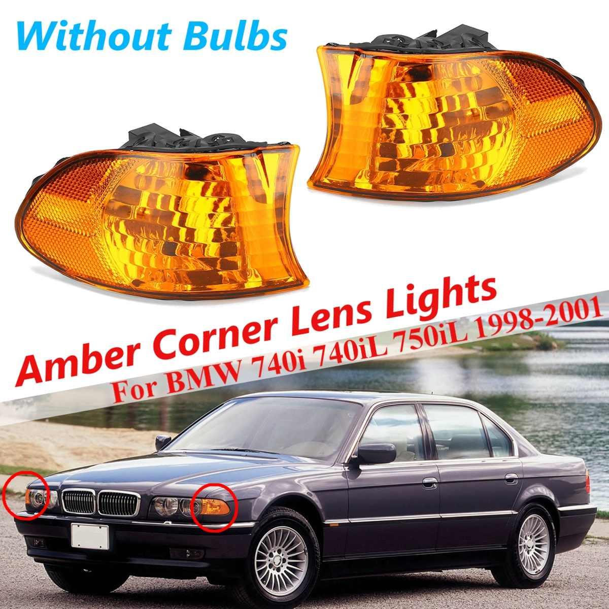 Para BMW E38 7 Series 740i 740iL 750iL, 1 par, luz de señal Coner ámbar delantera para coche, luz antiniebla, faros Drl, accesorios para coche con estilo