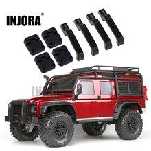 INJORA 1 ensemble en plastique noir charnières de porte de voiture et poignées de porte pour 110 RC chenille Traxxas TRX-4 TRX4