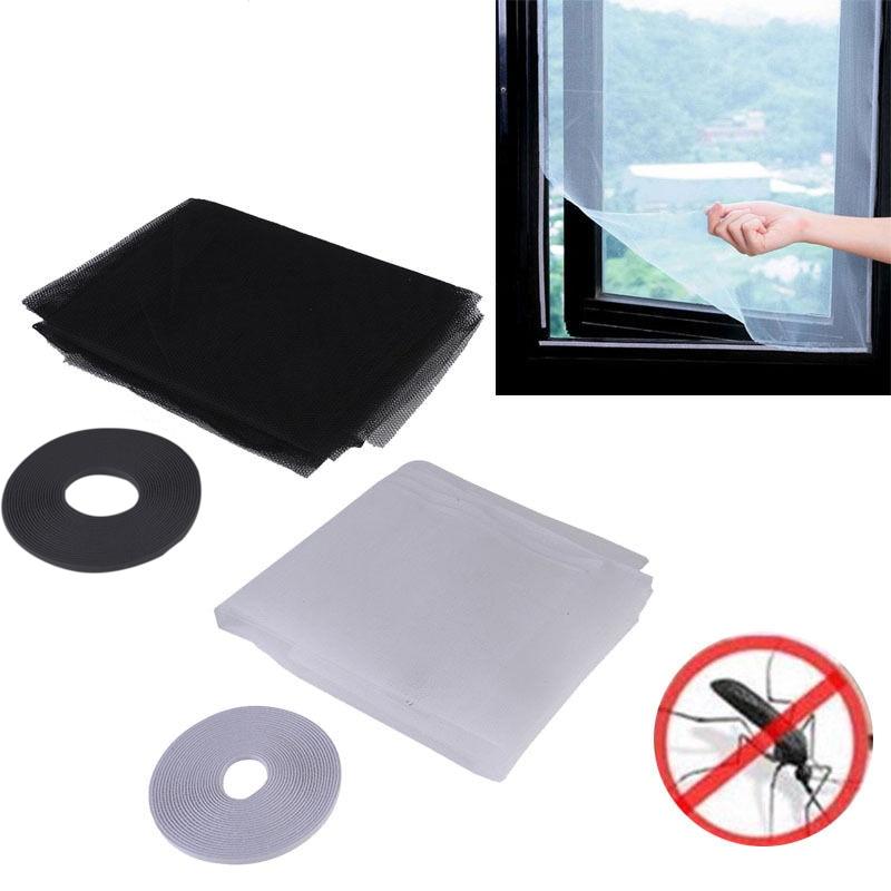 DIY Magic Sticker ventana malla puerta cortina Snap Net Guard Mosquito mosca insecto LC