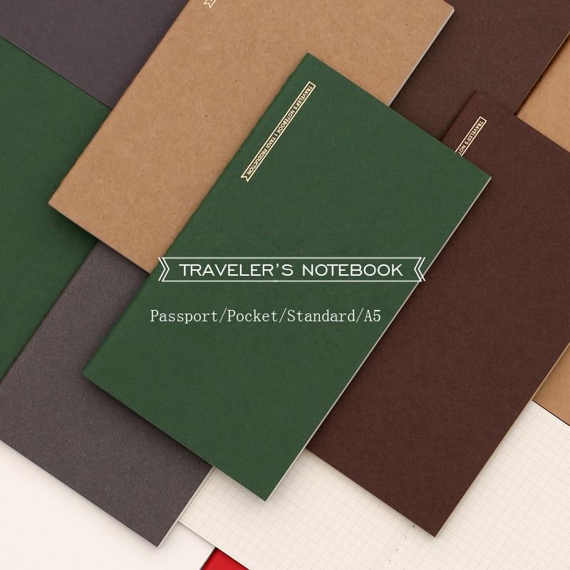 Fomthenon японская винтажная записная книжка пополнение для Midori планировщик Паспорт/карман/стандартный A5 ежемесячная еженедельная наполнител...