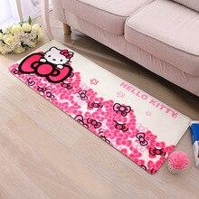 40*60cm,50*80cm Hallo Kitty Flanell Kind Decor Schlafzimmer Teppiche Für Wohnzimmer Teppiche Bad Hause Super Soft Teppich