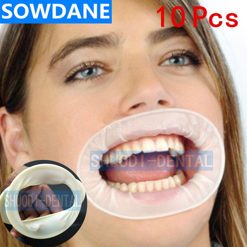 10 pcs Dental Disposable Rubber Sterile Mouth Opener Oral Cheek Expanders Retractor Rubber Dam Mouth Opener Oral Hygiene недорого