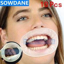 10 pièces dentaire jetable en caoutchouc stérile bouche ouvreur Oral joue extenseurs écarteur en caoutchouc barrage bouche ouvreur hygiène buccale