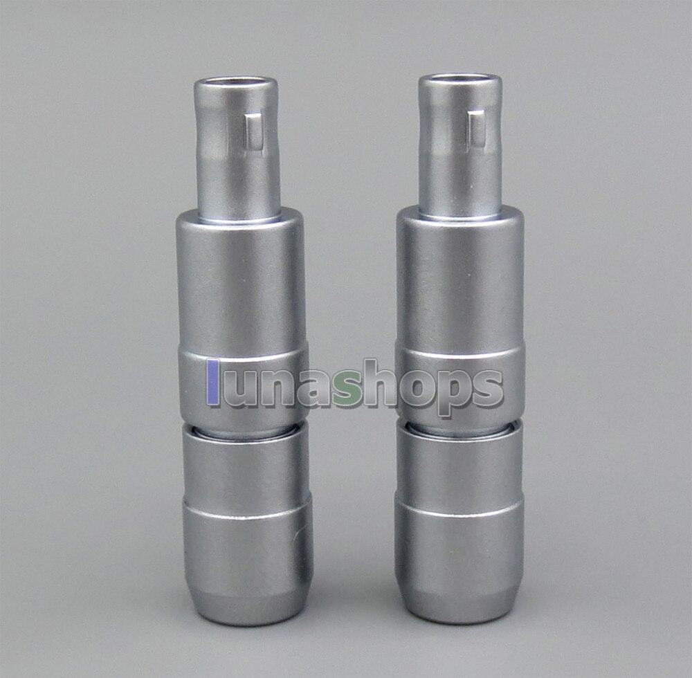 LN005228 1 par 5mm/3mm de diámetro macho auriculares enchufe DIY auriculares pines para Sennheiser HD820 HD820s HD800 HD800s Dharma D1000