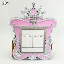 Adhesivos para interruptor en forma de corona encantadora, adhesivos para interruptor de luz, decoración de salida para sala de estar LXY9 JY11