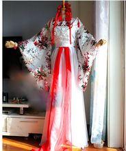 Han Shan Mei Shui fleur de prunier rouge blanc homme femme Couple amoureux Costume Hanfu Cos JunFu Hua Xu Yin Anime TV jouer Costume