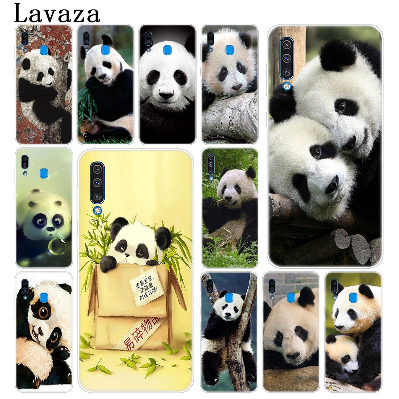 Lavaza asiáticos lindo bebé oso Panda caja del teléfono de China para Samsung Galaxy A70 A60 A50 A40 A30 A20 A10 M10 M20 M30 M40 A20e cubierta