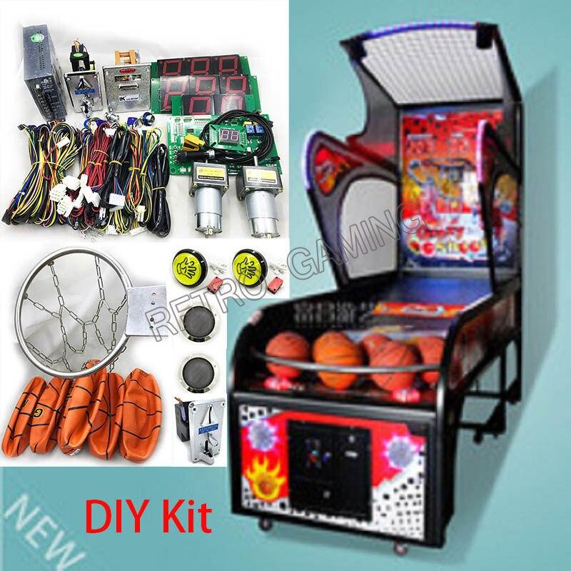 Arcade con Pelotas y Aro de Baloncesto para la Máquina del Gabinete Juego de Tiro de Baloncesto Callejero Operado por Monedas DIY