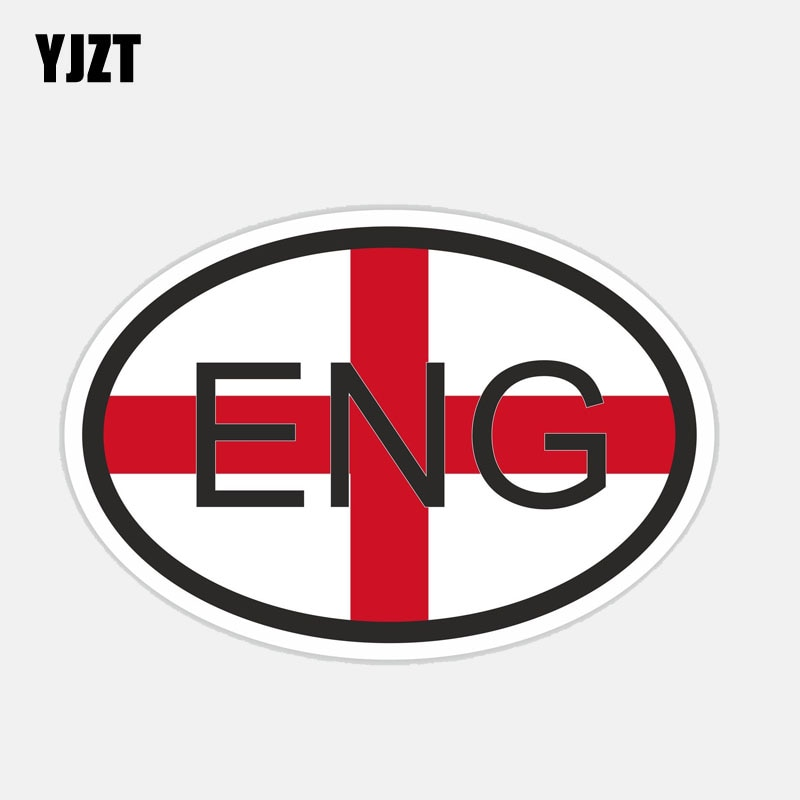 Yjzt 14 cm * 9.3 cm acessórios eng inglaterra país código bandeira decalque carro adesivo 6-2717