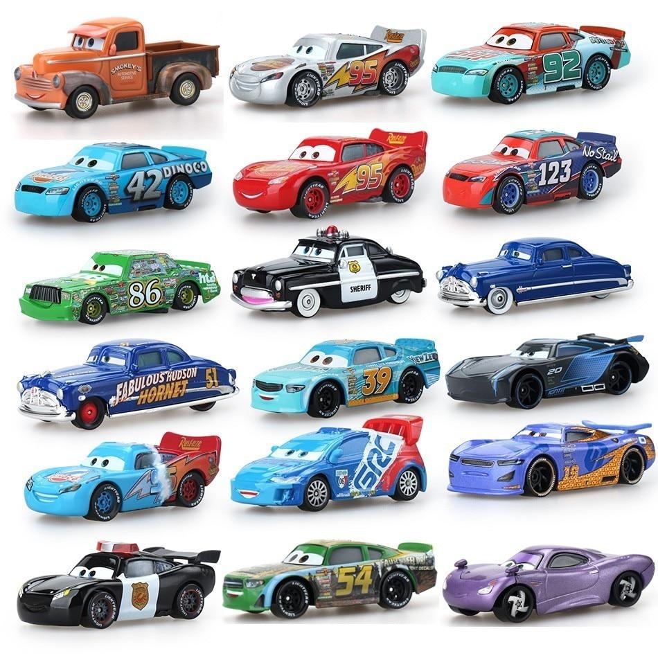 Disney Pixar игрушки для детей Молния Маккуин, высококачественные пластиковые машинки, игрушки модели персонажей из мультфильмов, рождественски...