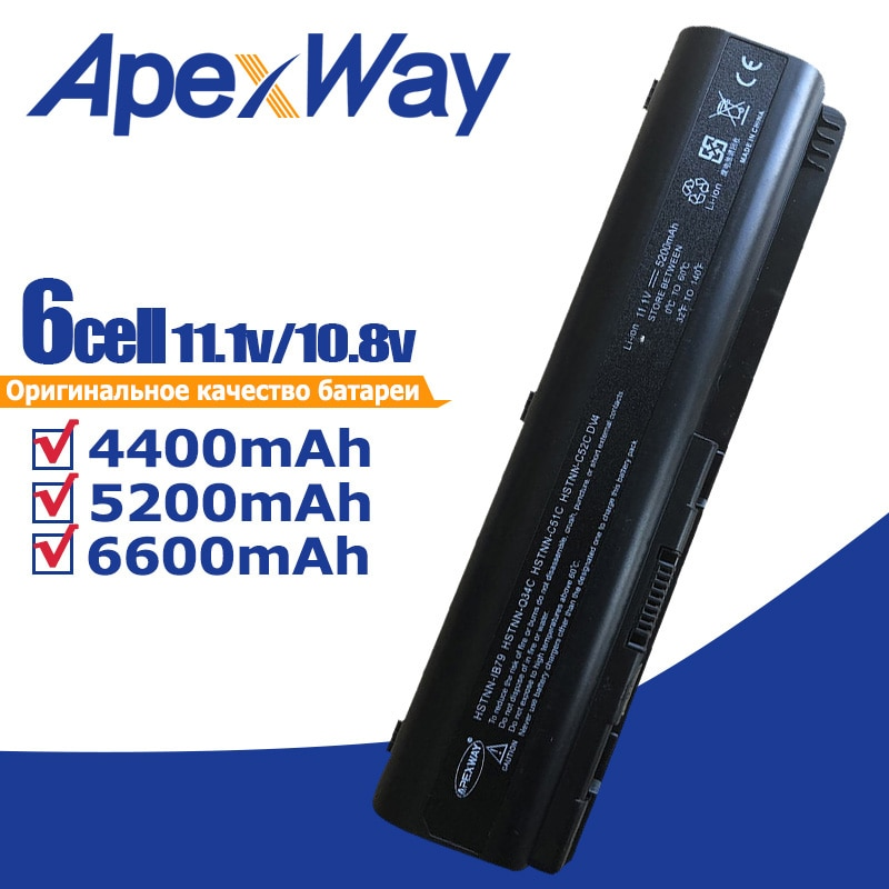 Bateria do portátil para HP G50 G61 dv4-2000 dv6 ev06 462889-121 462891-162 497694-497694-002 001 HSTNN-DB73 482186-003 HSTNN-Q37C
