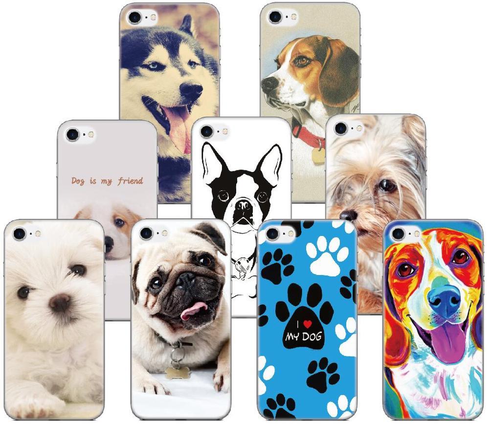 Print Animal Pet dog Bumper Silicone Cover Soft TPU Phone Case For Google Pixel 2 3 4 3A XL 2XL 3XL Lite 4XL Rubber Fundas
