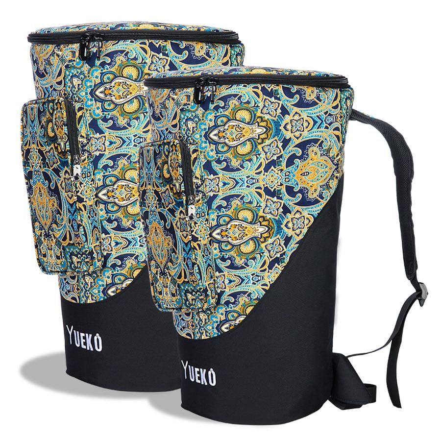 Djembe saco resistente alças de ombro alta qualidade e durável africano tambor saco tripla-camada construção 10/12 polegada