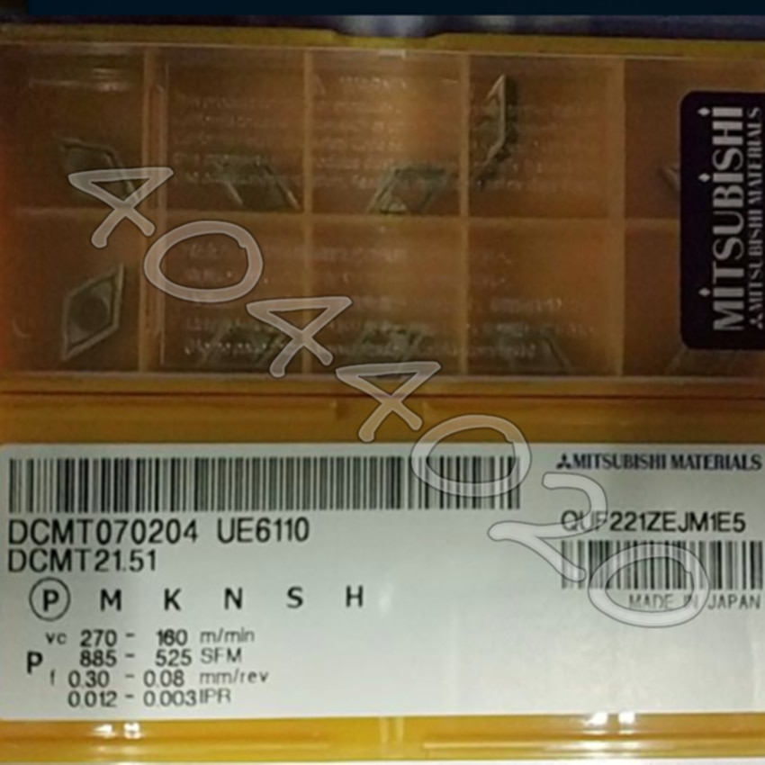 DCMT070204 UE6110 DCMT21.51 UE6110 10 قطعة/صندوق كربيد إدراج