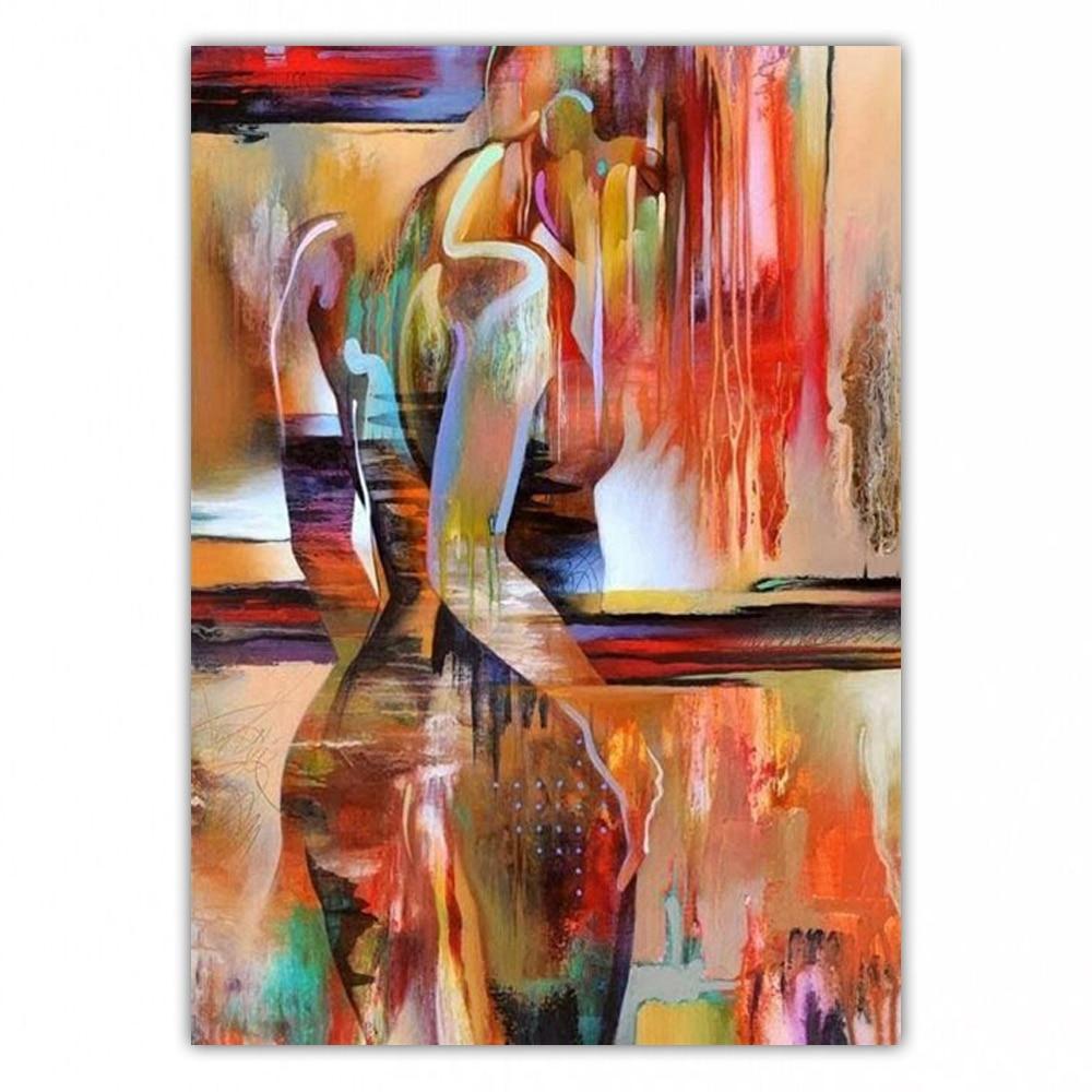 Pintura a Óleo Pintados à Mão Decoração de Casa Dongmei Alta Qualidade Abstrata Arte Pintura Imagens Presente Dm19032616