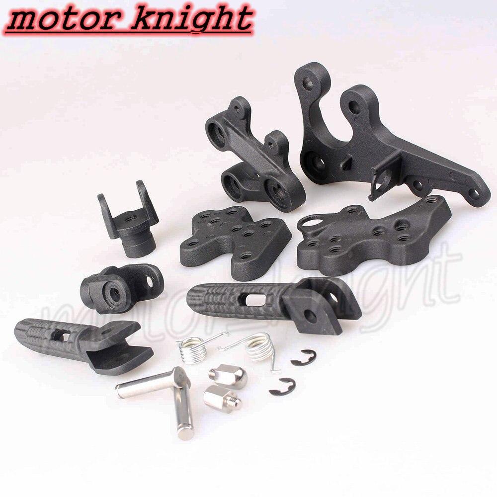 GSXR1000 2005, 2006, 2007, 2008, 2009, 2010, 2011 de la motocicleta frente negro de pie clavijas soporte reposapiés