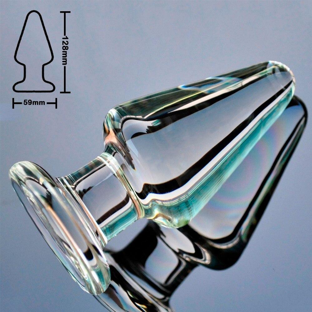 60 мм, большой размер, стекло пирекс, Анальный дилдо, Анальная пробка, большой кристалл, искусственный пенис, шарик для взрослых женщин, секс-и...