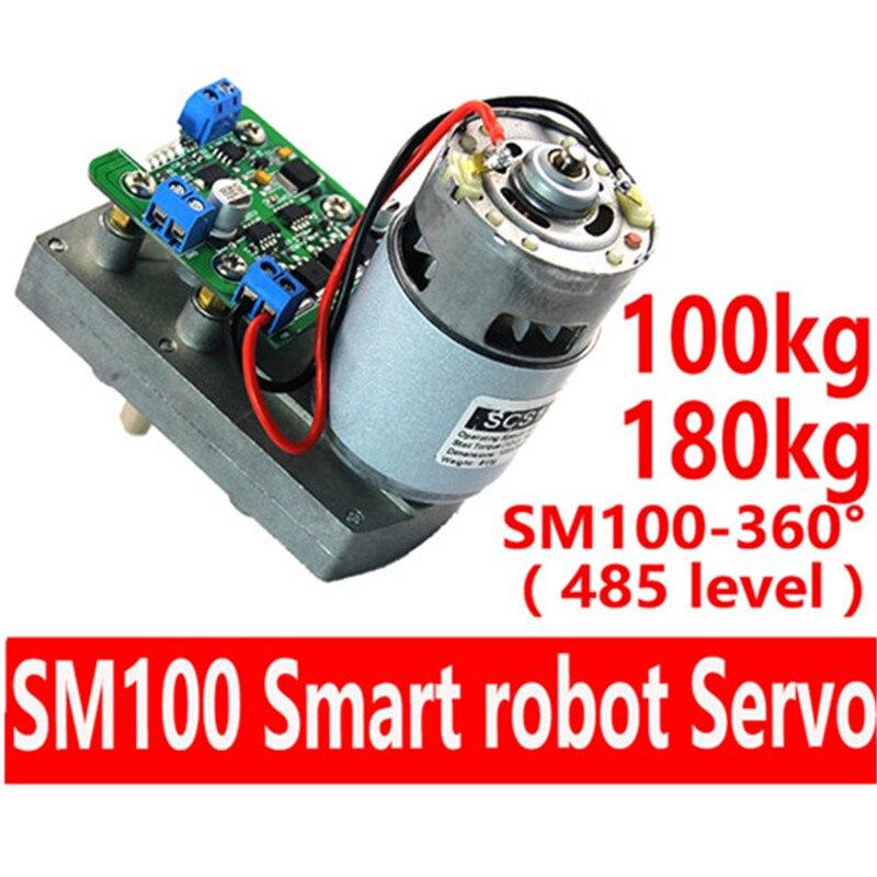 FEETECH SMS 100 S-BUS 12 V 100 kg 485 protocol Hohe Drehmoment Legierung Smart Roboter Servo Unterstützung TTL für industrie roboter