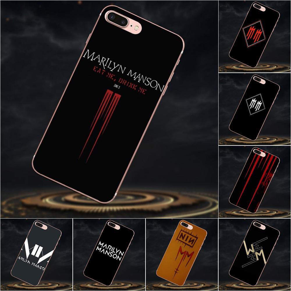 Marilyn Manson logotipo para Huawei P7 Honor 4C 5A 5C 5X 6 6C 6A 6X 7 7X 8 9 V8 V10 Y3II Y5II Y6II G8 jugar Lite funda
