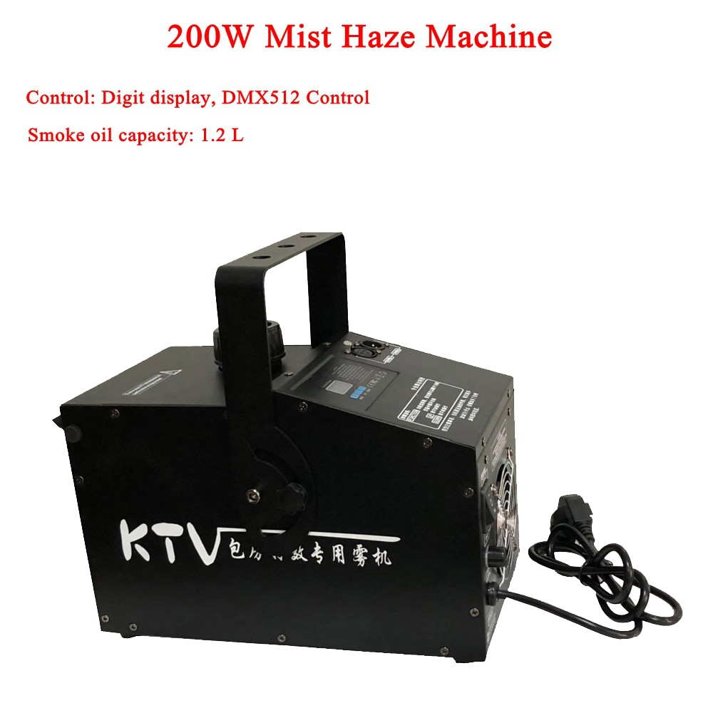 New 200w Mist Haze Machine 1.2L Fog Machine DMX512 Smoke Machine DJ Bar Party Disco Show Stage Light Led Stage Machine Fogger