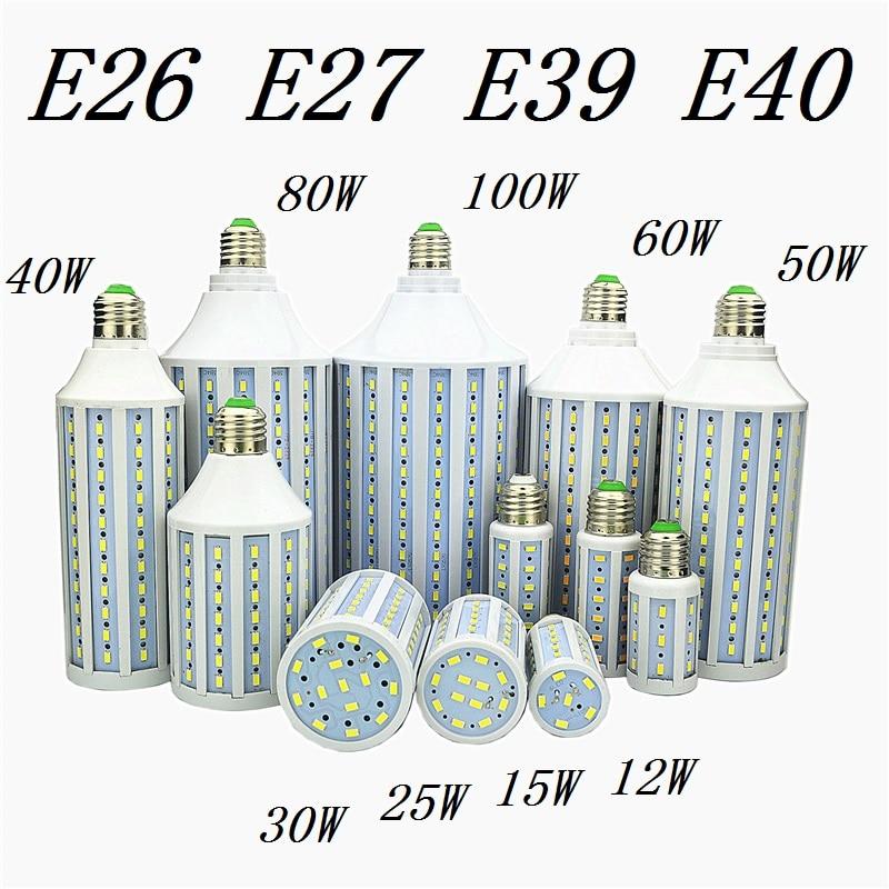 Led-lampe Lampe E27 E26 E39 E40 5730 Mais Spot-Licht 12 Watt 15 Watt 25 Watt 30 Watt 40 Watt 50 Watt 60 Watt 80 Watt 100 Watt Lampada 110 V 220 V Kalt Warmweiß lichter