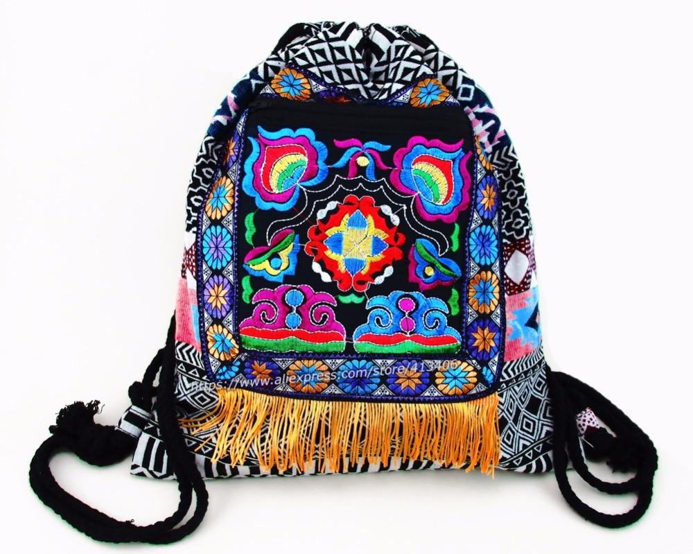 Tribal Vintage Hmong Thai Indian Ethnic Boho rucksack Boho hippie ethnic bag backpack bag L size SYS-542A