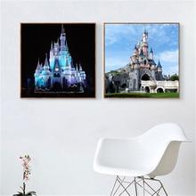 Beatuty-photos murales de Paris   Château Disneyland, décoration pour salle de séjour, affiche de parc dattractions pour chambre denfants