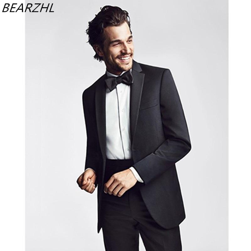 Praia dos homens smoking para o noivo preto formal wear masculino feito sob encomenda terno 2020 vestido de moda