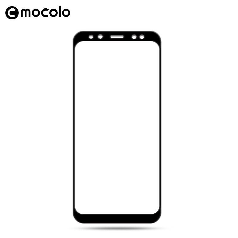 Para Samsung A8 2018 Protector de pantalla Mocolo A8 cubierta completa 9H vidrio templado para Samsung Galaxy A8 Plus 2018 Protector de pantalla