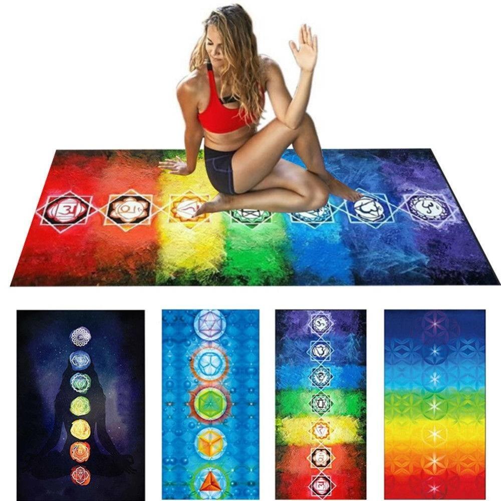 7 Chakra Mandala colgante bohemio manta tapiz verano Toalla de playa y esterillas de yoga señora Fitness shaping