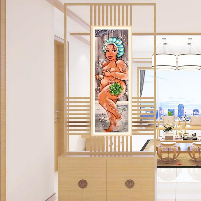 Ishowtienda 5d pinturas bordadas strass colado diy pintura da lona de diamante ponto cruz parede fotos para sala estar