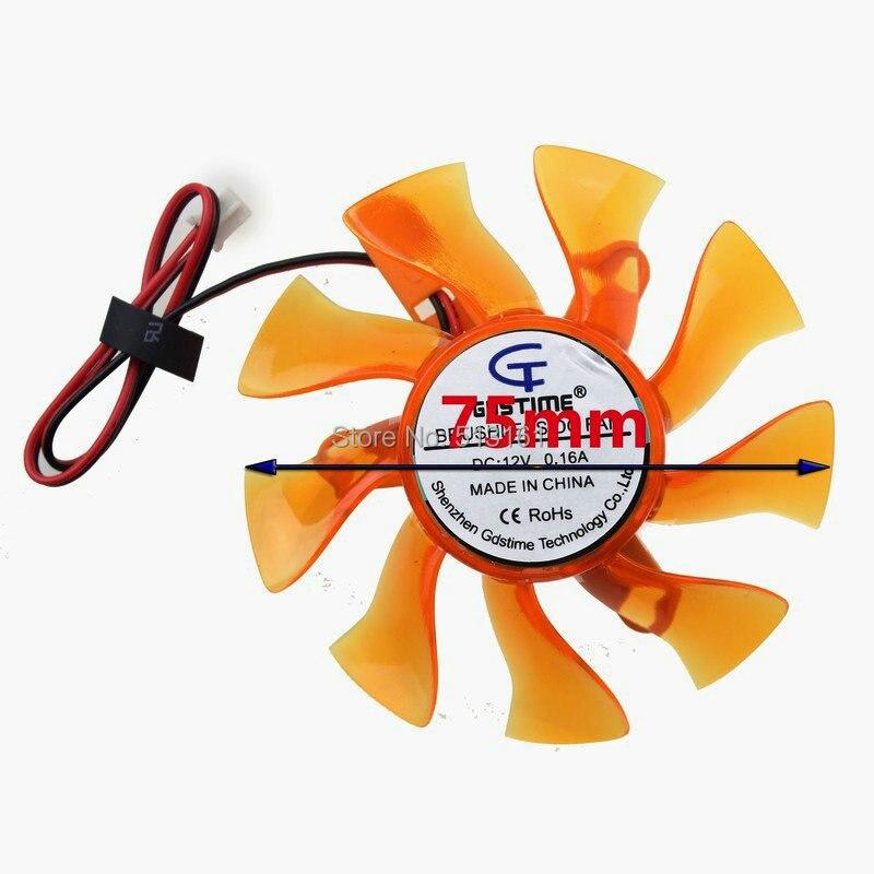 free shipping t128010sm 75mm dc12v 0 20a 40 40 40mm for gigabyte graphics card cooler cooling fan 10PCS Gdstime 3Pin 75mm DC12V 75x75x15mm For Graphics Card Cooler Cooling Fan