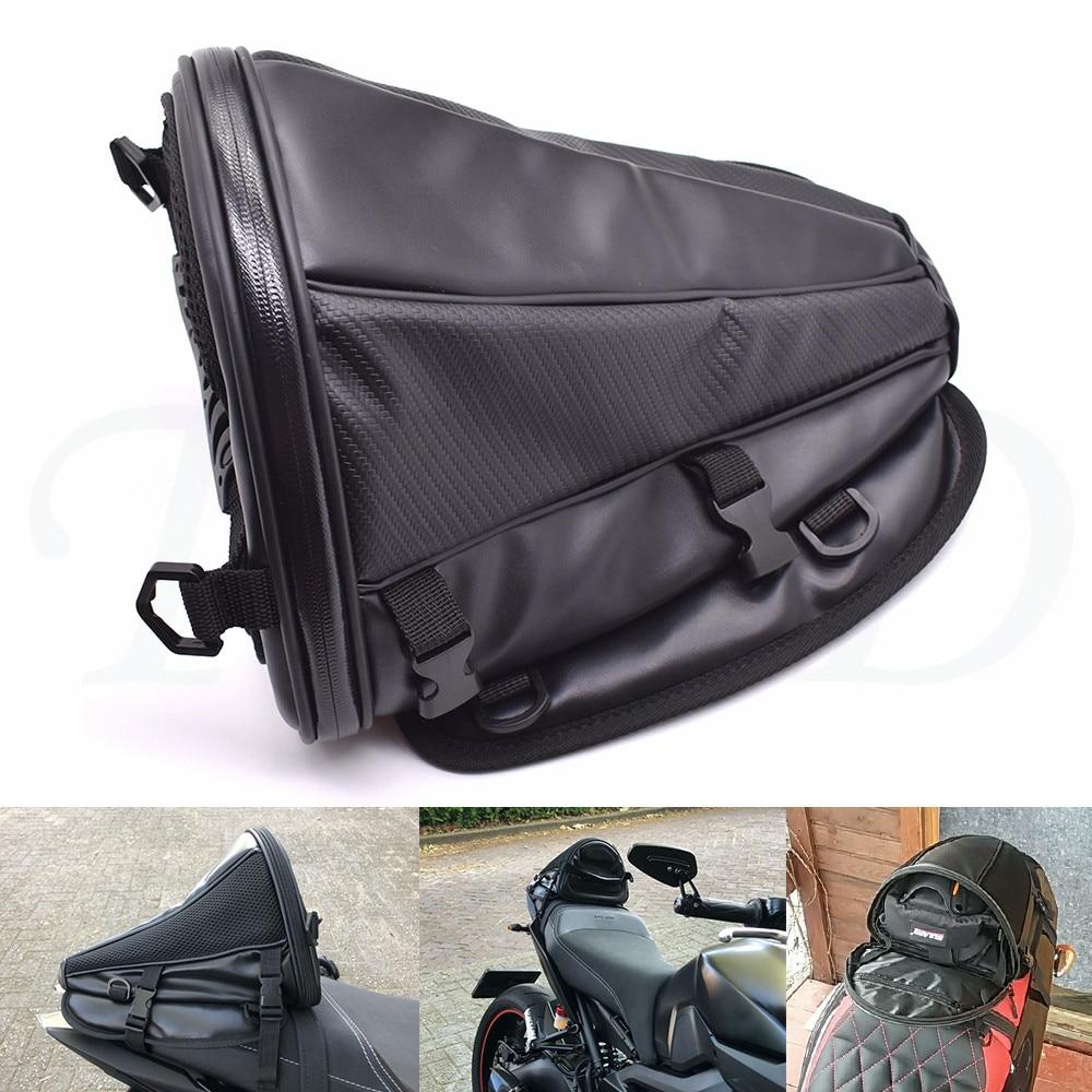New carbon fiber color motorcycle tail bag seat backpack handbag for Ducati DIAVEL 1198 1098 999 749 MULTISTRADA MONSTER S4RS