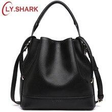 LY.SHARK Brand Luxury Handbags Women Bags Designer Crossbody Bags For Women Messenger Bag Genuine Leather Shoulder Bag Bucket