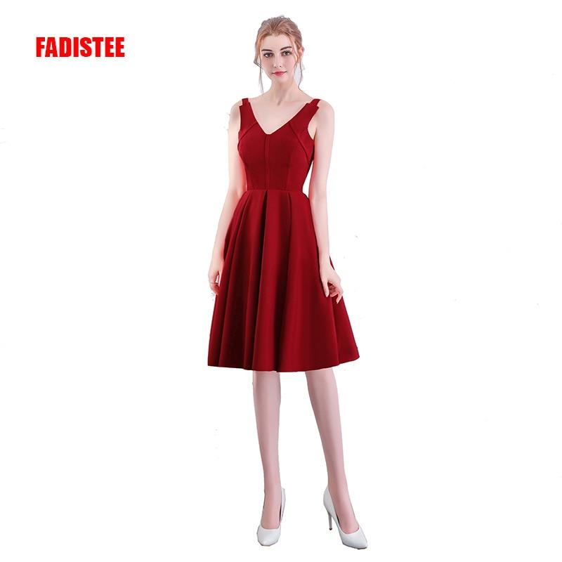 FADISTEE-فستان كوكتيل ساتان بفتحة رقبة على شكل v ، فستان قصير مثير بفتحة رقبة على شكل v لحفلات الكوكتيل