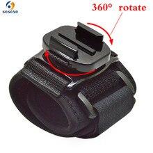 Pour Go pro dragonne 360 rotation dragonne trépieds brassard complet pour Gopro Hero 8 7 6 5 4 3 2 1 accessoires de caméra de sport