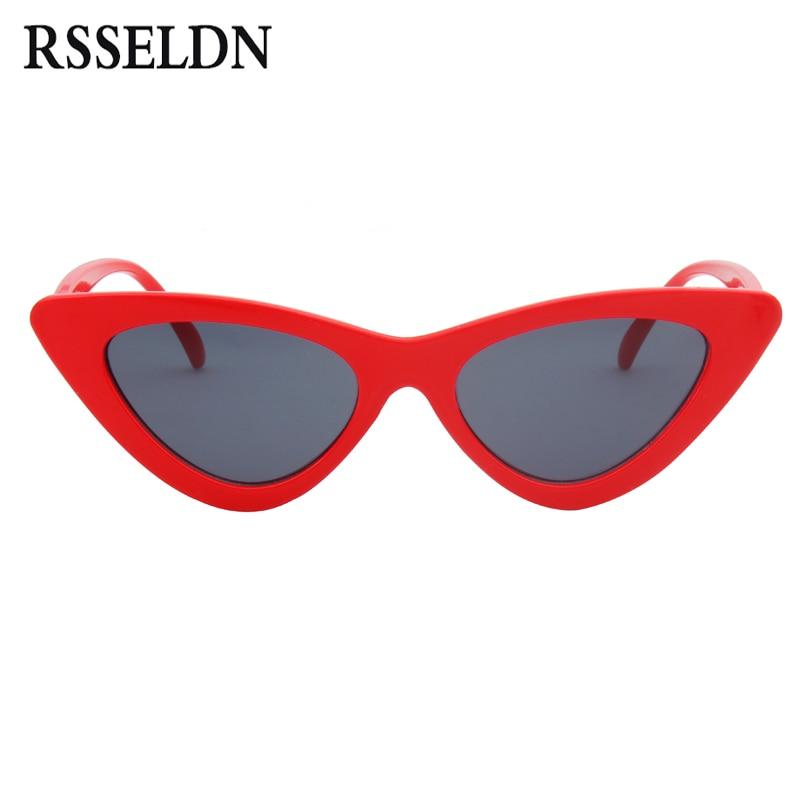 Buy Rsseldn New Cat Eye Sunglasses Women Fashion Brand Designer Mirror Lens Cateye Sun Glasses For Female Shades Uv400 Gafas Oculos Online Cheap Sastrobuy