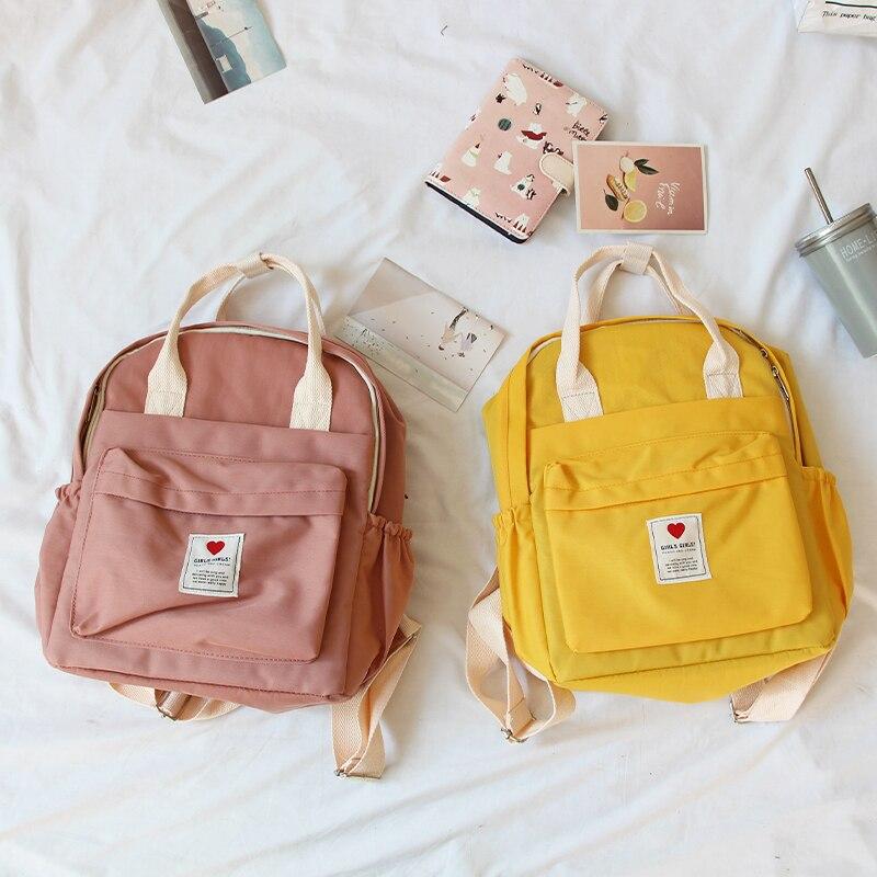 Coreia do sul adorável ins saco macio do sexo feminino estudante japonês harajuku mochila pequeno fresco ulzzang roxo mochila