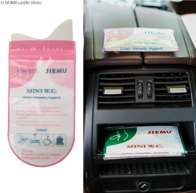 700ml Emergency Portable Car Urine Vomit Bag Mini Mobile Toilets Handy Disposable Urinal Toilet Bag