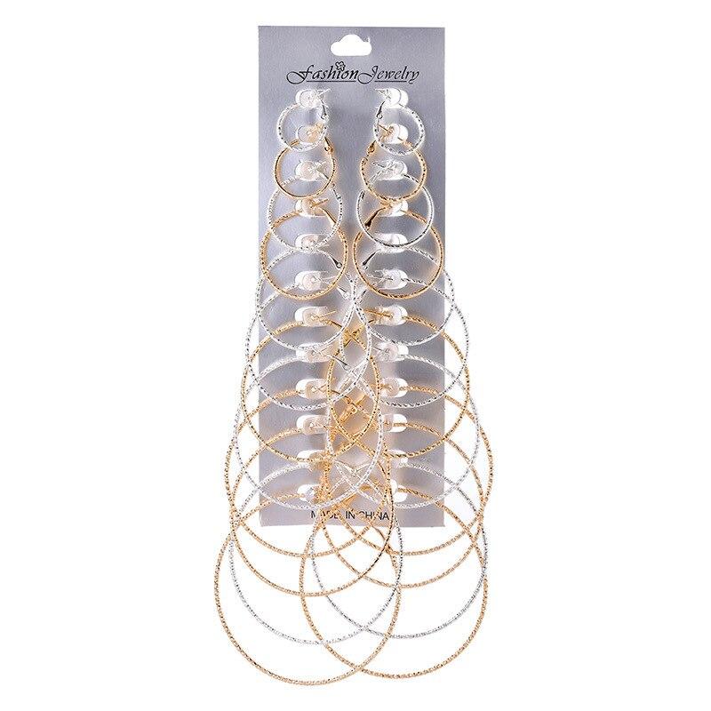 Minimalista ouro/prata cor pequena grande círculo hoop brincos para as mulheres simples punk brincos redondos conjunto crioulo jóias a granel preço