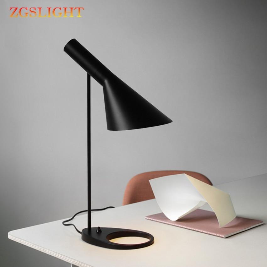 New Nordic Modern Black Led Table Lamps Bedroom Bedside Decoration Lighting Desk Lamp Cafe Aisle Hall Study Read Lights