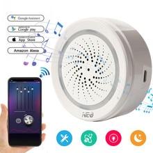 Smart Wireless WiFi Siren Alarm Sensor USB Power Via IOS Android APP Notification Plug and Play No HUB Requirement Alarm Siren