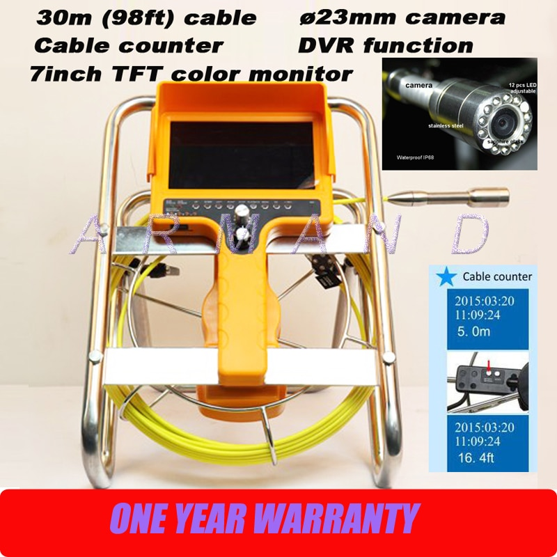 Stehen Handliche Sanitär ablauf kanalisation außenkanal kamera rohrinspektionssystem endoskop 98ft kabel 710DNC-SCJ1