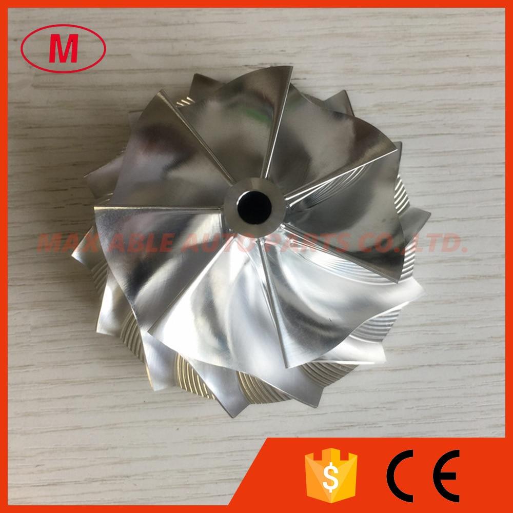 HX40 66.30/84.00mm 7 + 7 lâminas de alta performance Turbocompressor Boleto/fresagem/alumínio 2024 roda do compressor