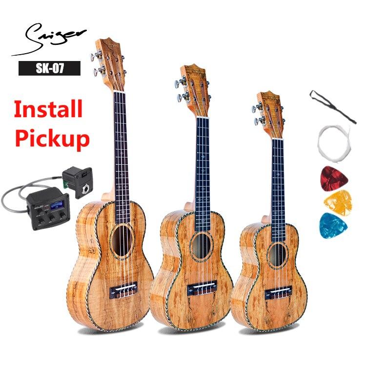 Ukelele 21 24 26 pulgadas Deadwood Mini Electri concierto Tenor acústico guitarras 4 cuerdas Ukelele instalar guitarra de viaje de recogida