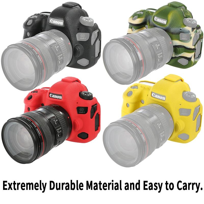 Funda protectora ligera MingLu para cámara canon EOS 6DII 6D2 6D Mark II 2 cámara digital