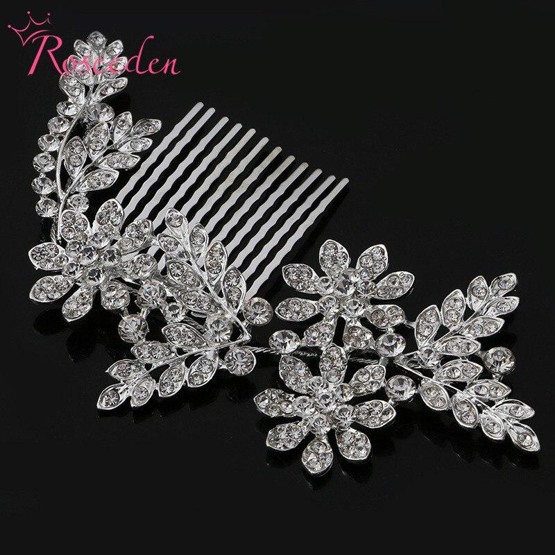 Liga de noiva penteados de cabelo strass deixa jóias de casamento casamento nupcial pentes de cristal noiva headdress casamento accessoriesre389