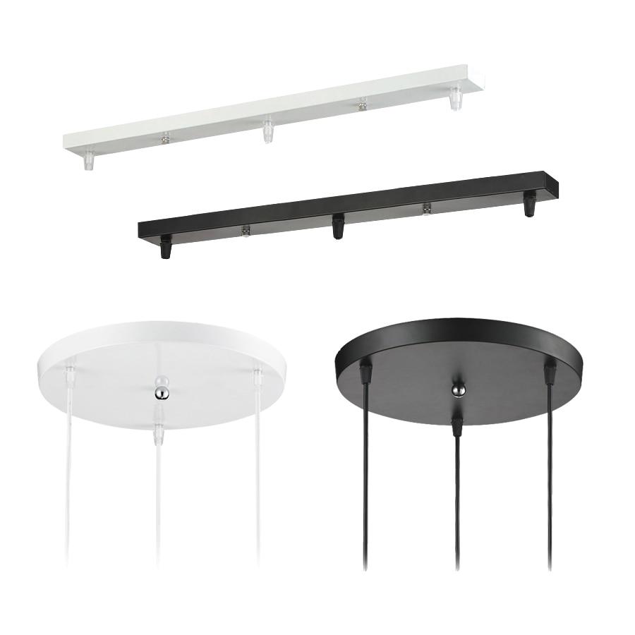 Accesorio de lámpara colgante, 3 lámparas de barra, techo redondo, dosel de placa montado, personalizado para lámparas colgantes, lámpara colgante