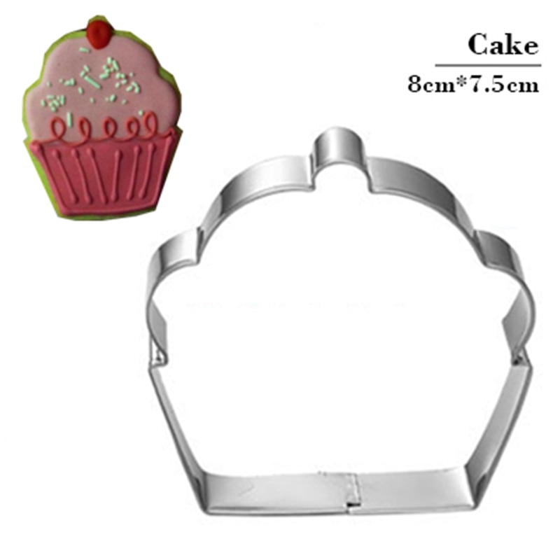 Outils de découpe de biscuits Cupcake   Cupcake, moule à timbres en acier inoxydable, jeu de pâtisserie, jouet cuisine chinois bon marché, Fondant